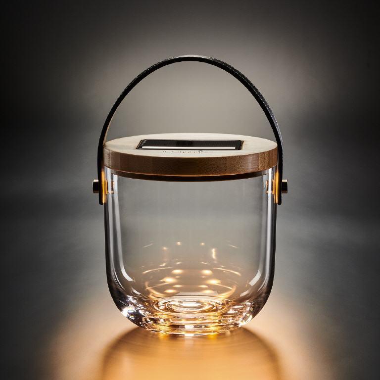 Super Krinner Solarleuchten - LED-Solar-Deko-Glas YP79